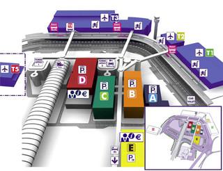 Mapa do terminal e aeroporto Leonardo da Vinci Fiumicino (FCO)