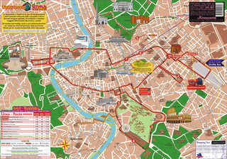 Mapa de onibus turistico e hop on hop off bus tour de City SightSeeing